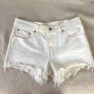 Levi's 501® Cutoff White Denim Shorts